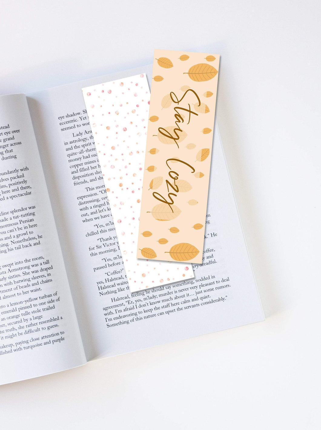 Personalized Autumn Bookmark