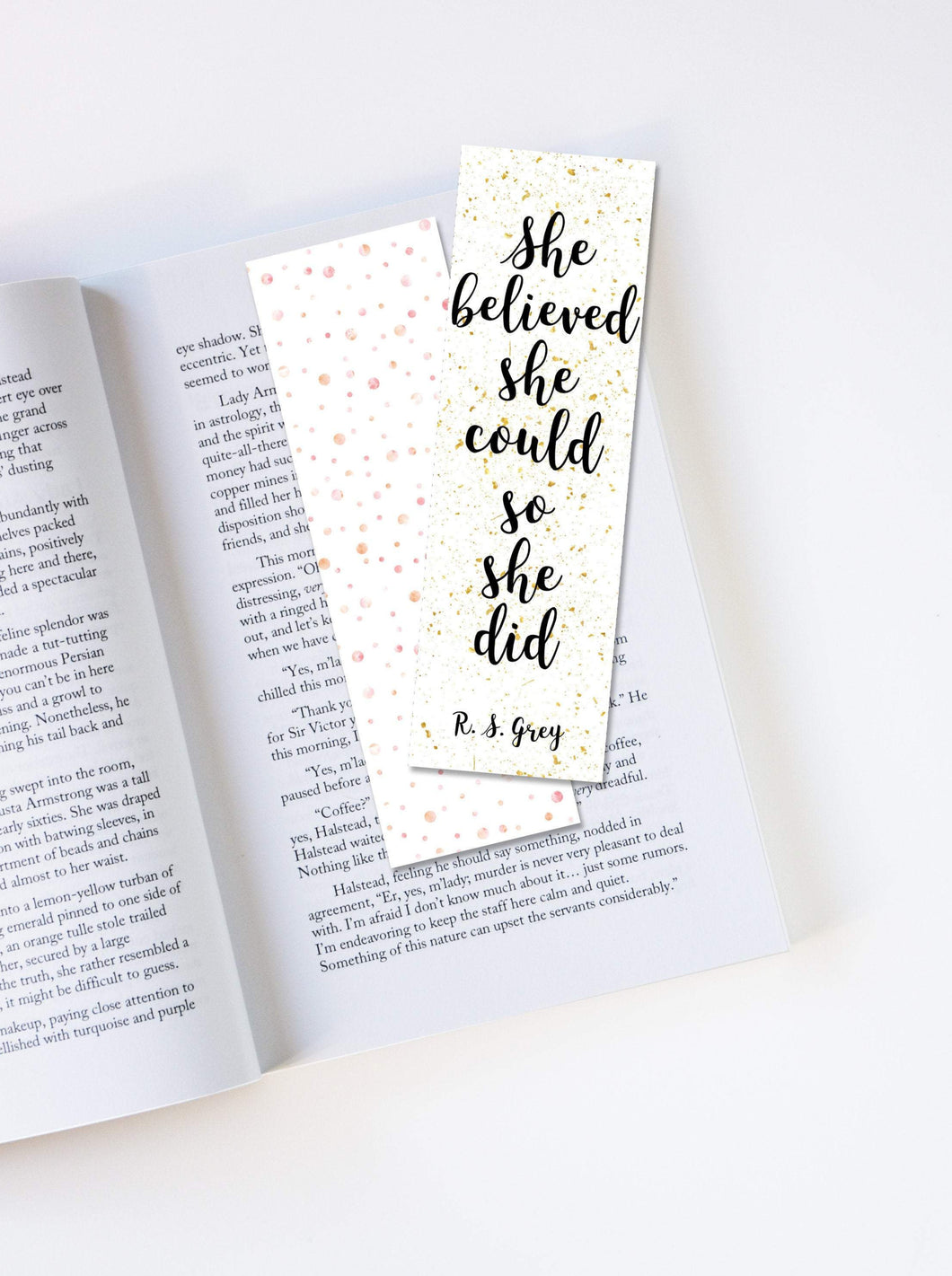 She Believed She Could So She Did Laminated Bookmark