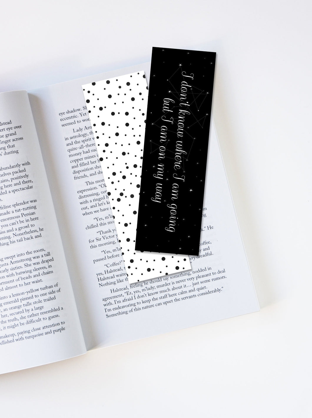 I Don't Know Where I Am Going But I Am On My Way Laminated Bookmark