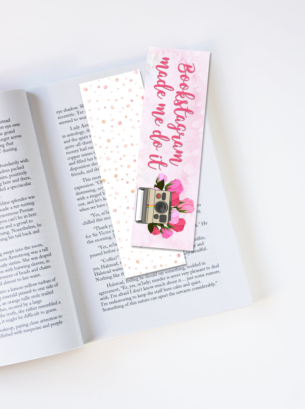 Bookstagram Made Me Do It Laminated Bookmark