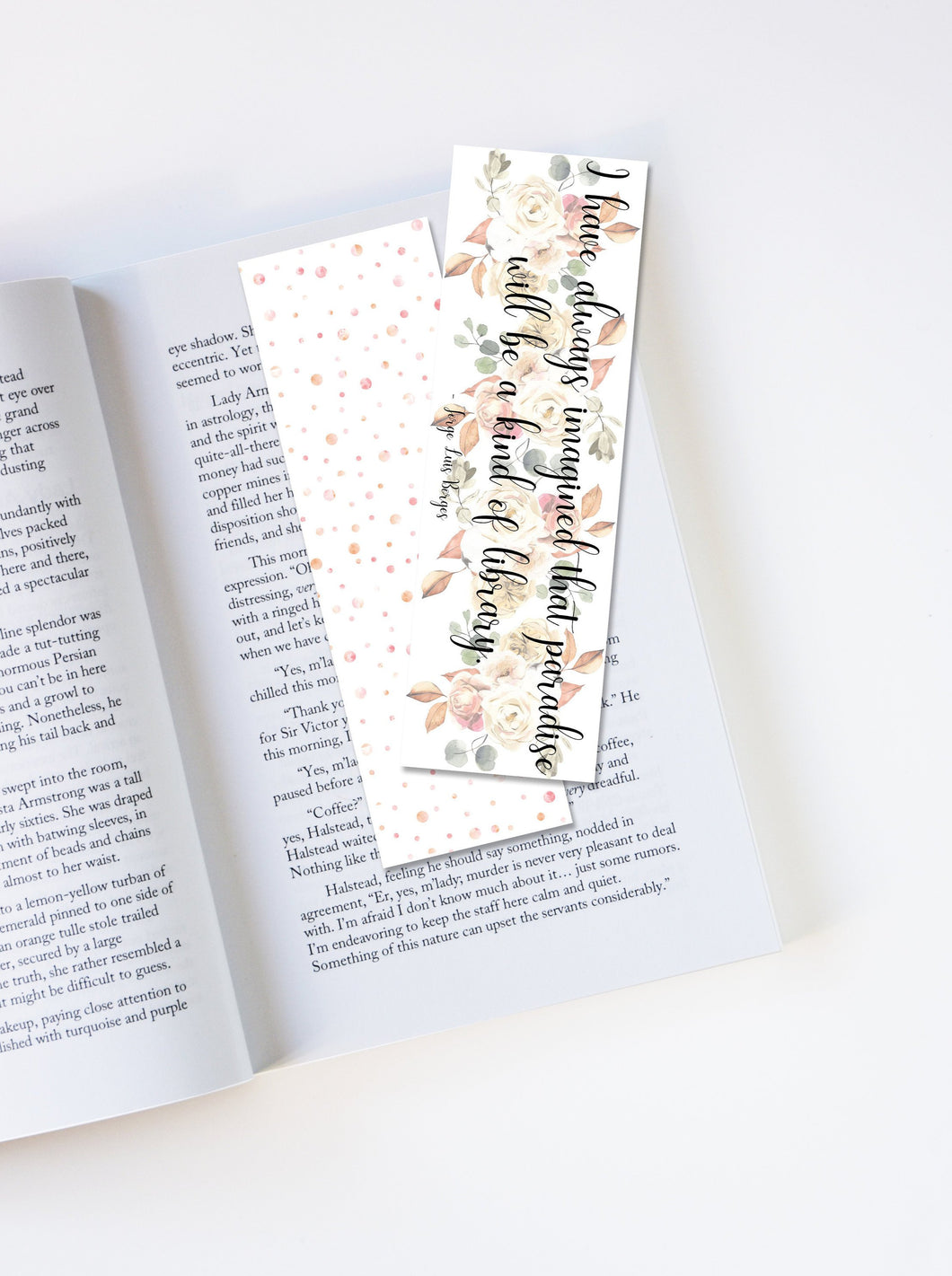 Quote Laminated Bookmark