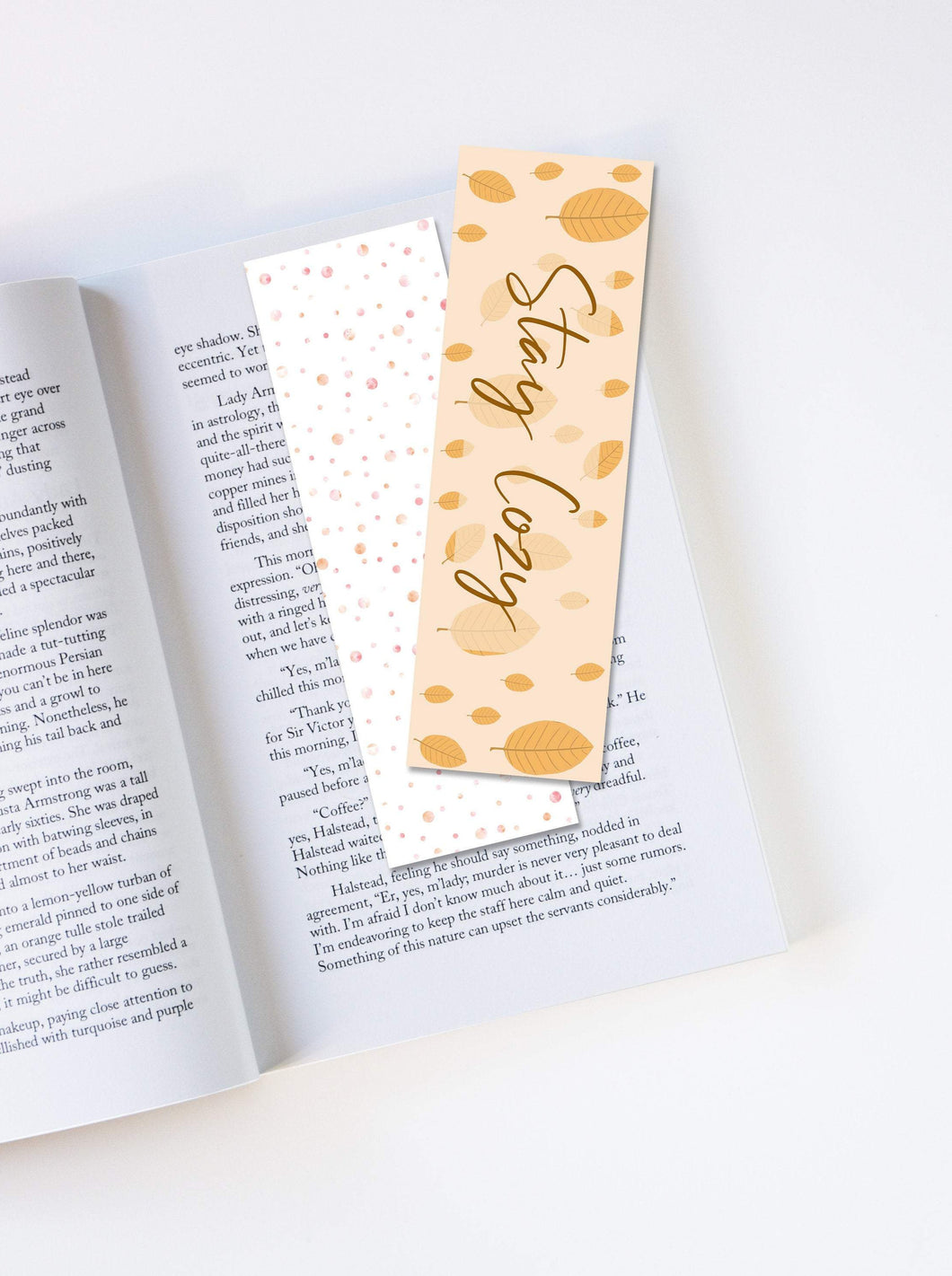 Stay Cozy Autumn Laminated Bookmark