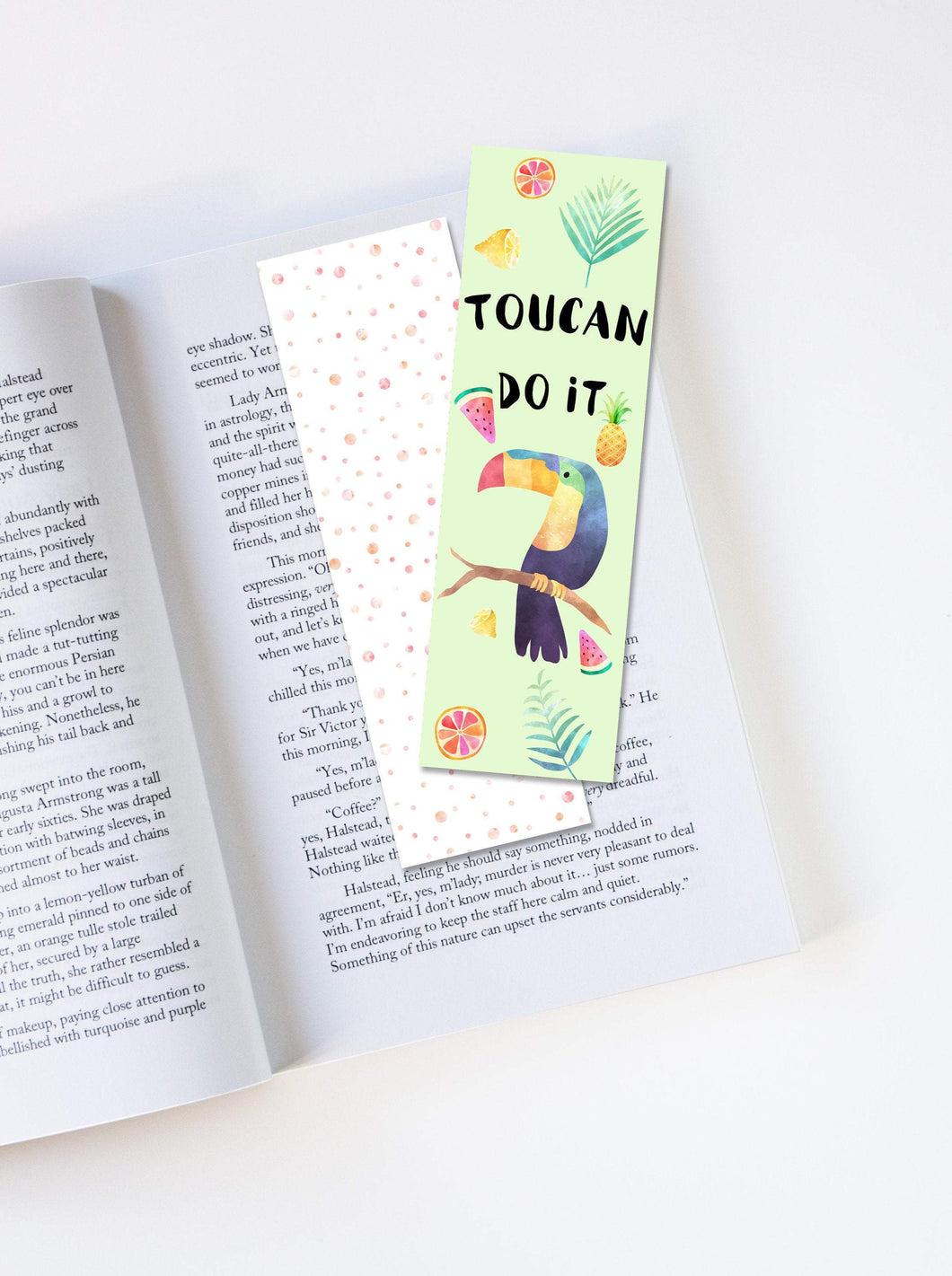 Toucan Do It Laminated Bookmark