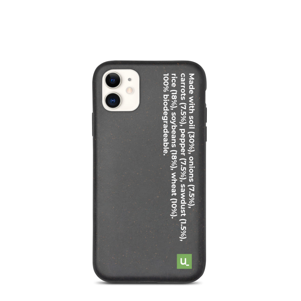 Biodegradable Black Phone Case for iPhones