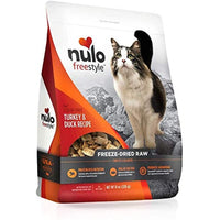 Nulo Freestyle Freeze-Dried Raw Cat Food, Turkey and Duck, 8 oz - Grain Free Cat Food with Probiotics, Ultra-Rich Protein to Support Digestive and Immune Health - Premium Pet Food Topper, Orange