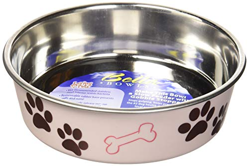 Loving Pets Bella Bowl for Dogs, Medium, Paparazzi Pink