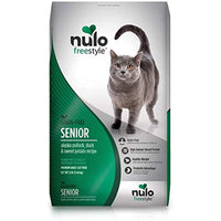 Nulo Senior Freestyle Dry Cat Food: All Natural Ingredient Diet For Digestive & Immune Health - Allergy Sensitive Non Gmo (Alaska Pollock, Duck/Sweet Potato Recipe - 12 Lb Bag), Green/grey (61SP12)