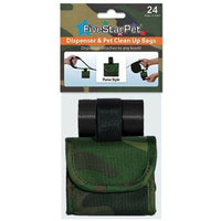 Five Star Pet Green Camouflage Purse Style Dispenser and Pet Clean up Bags