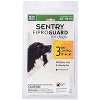 SENTRY Fiproguard for Dogs, Flea and Tick Prevention for Dogs (23-44 Pounds), Includes 3 Month Supply of Topical Flea Treatments