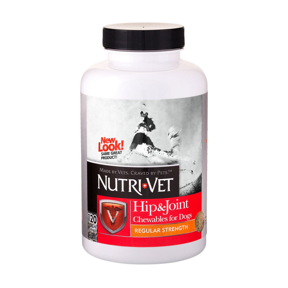 Nutri-Vet Hip & Joint Chewable Dog Supplements | Formulated with Glucosamine & Chondroitin for Dogs | 120 Count