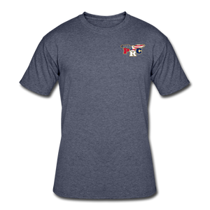 Open image in slideshow, PRC Men's 50/50 T-Shirt - navy heather