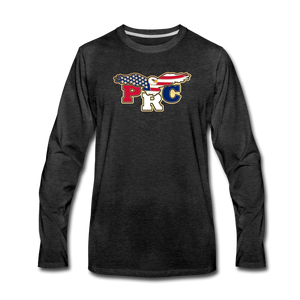 Open image in slideshow, PRC Men's Premium Long Sleeve T-Shirt - charcoal gray
