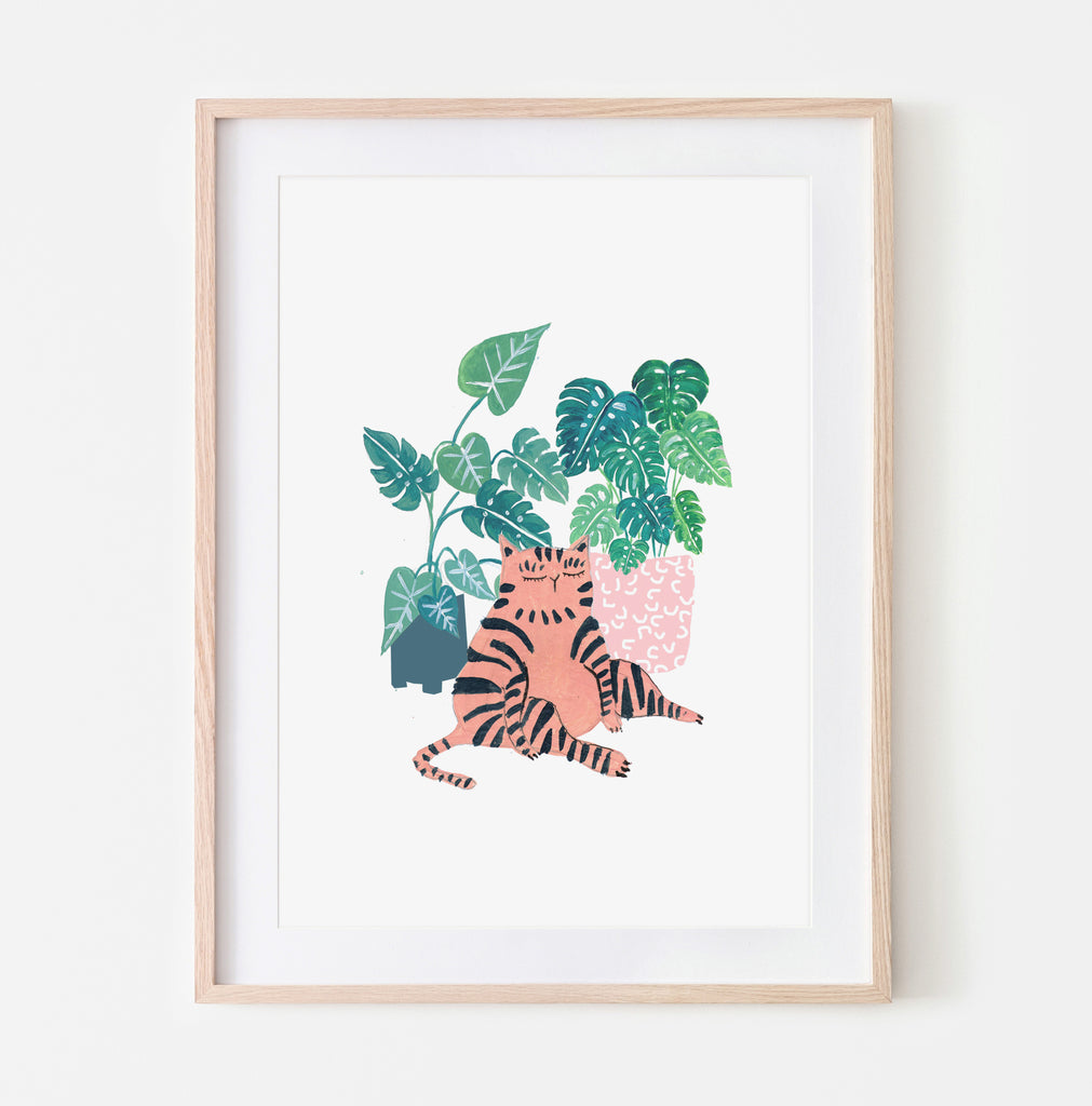 Striped Plant Cat - Amber Davenport
