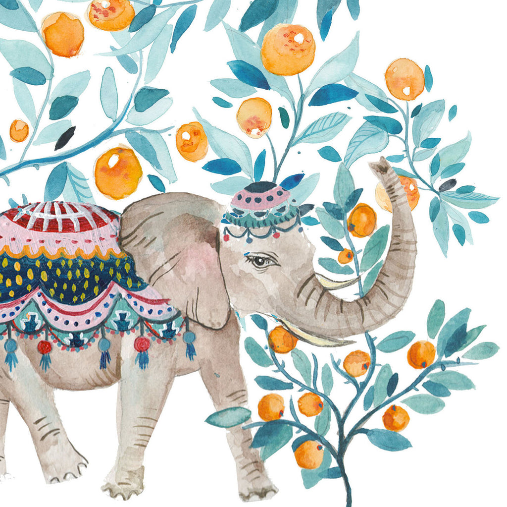 Orange Orchard Elephant - Amber Davenport
