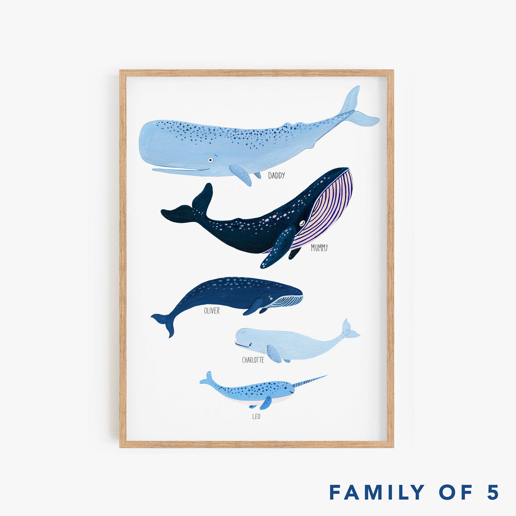 Personalised Whale Species Family - Amber Davenport