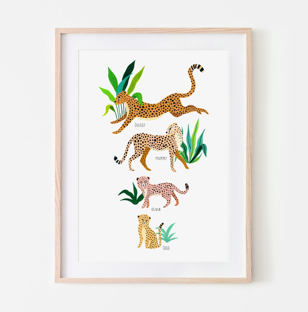 Personalised Cheetah Family - Amber Davenport