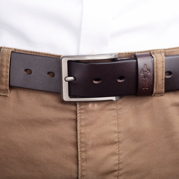 Boot strap on model in chinos straight angle