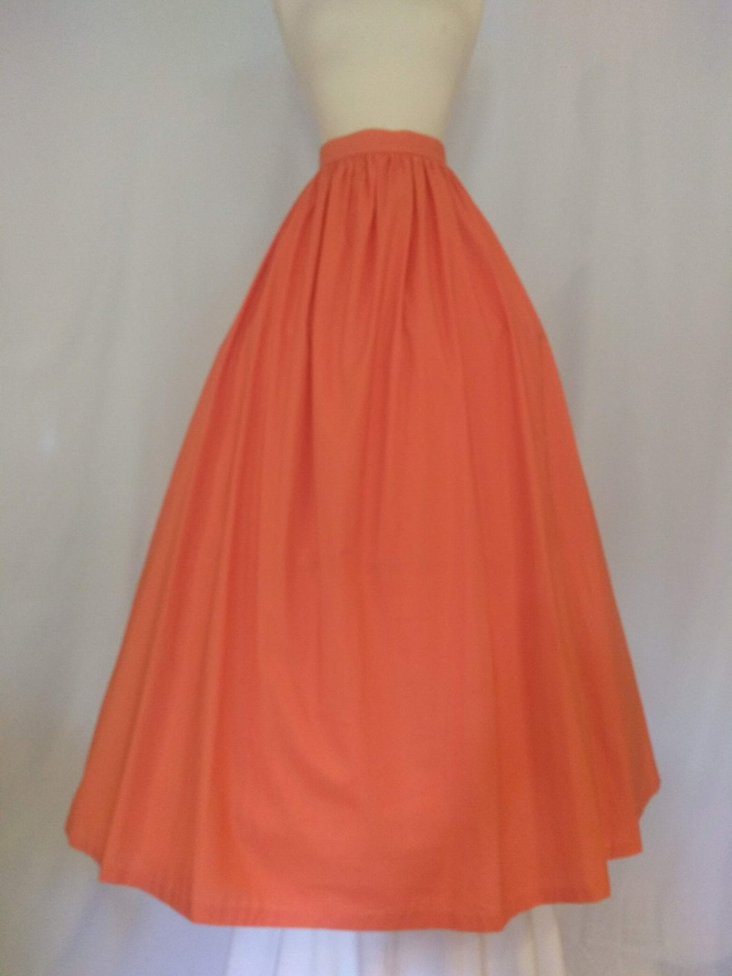 Salmon Pink Cotton Skirt