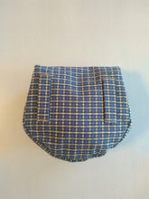 Load image into Gallery viewer, Renaissance Belt Pouch, Blue White and Tan Plaid
