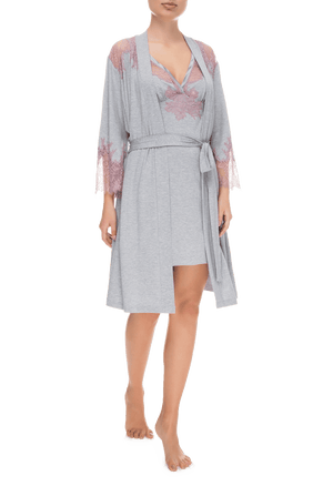 Халат Suavite lace-short-robe-slp86-19-g-deniz-w