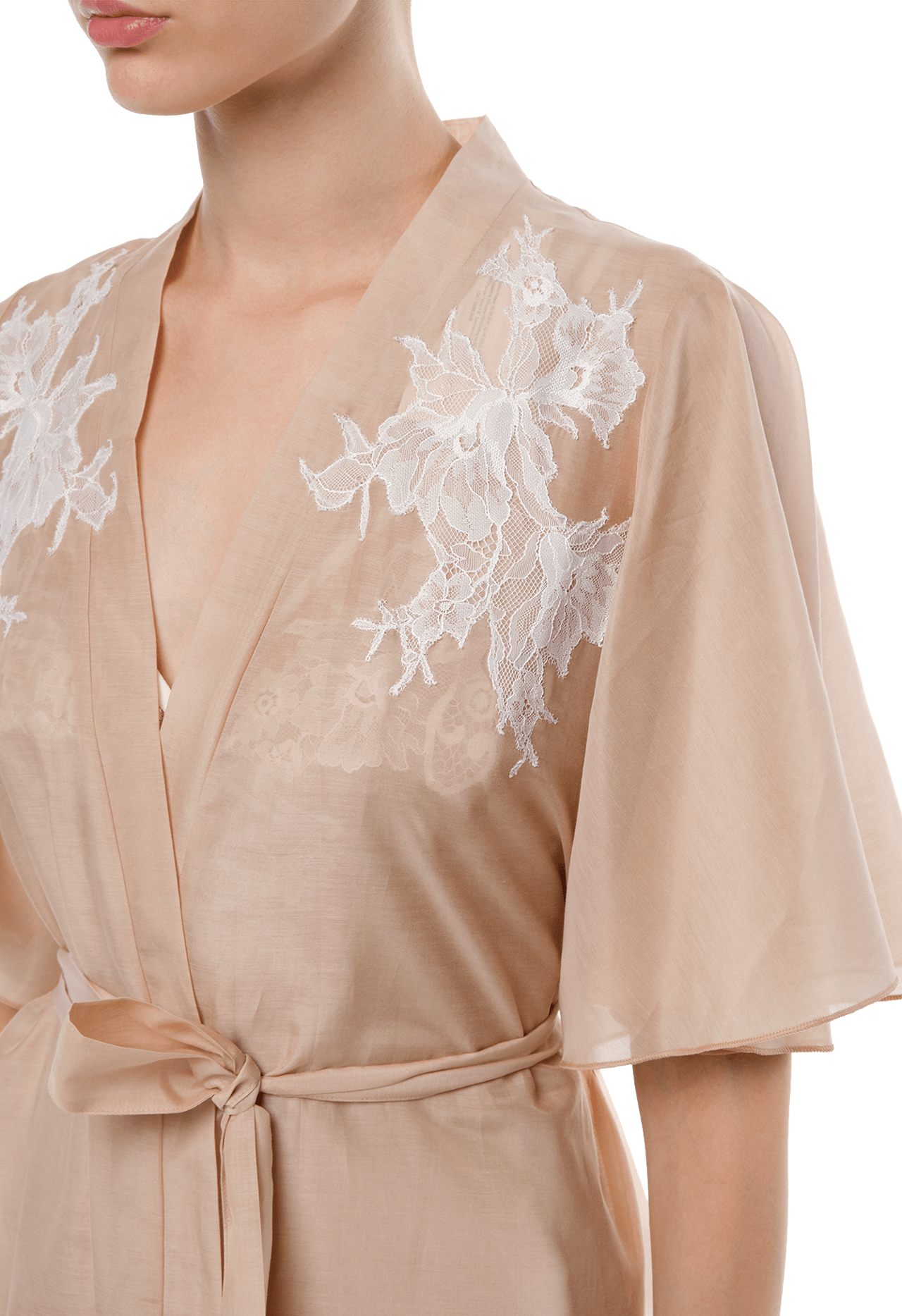 Короткий халат Suavite lace-short-robe-slp92-19-b-christine-w