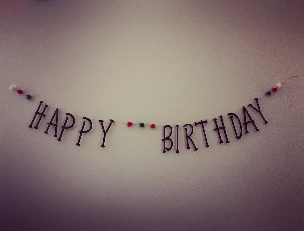 Painted Happy Birthday Banner