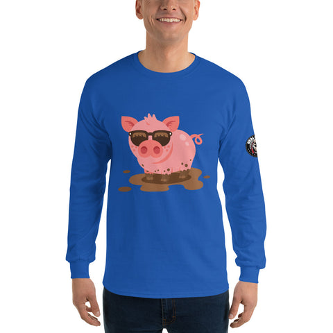 Stylin Wildin Piggy Long Sleeve (Blue)