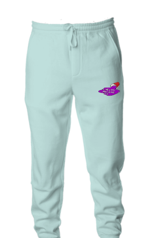 Drink, Drank, Drip Fleece Joggers (Mint)