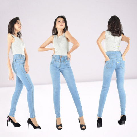 Corset Highwaist Skinny Denim Jeans