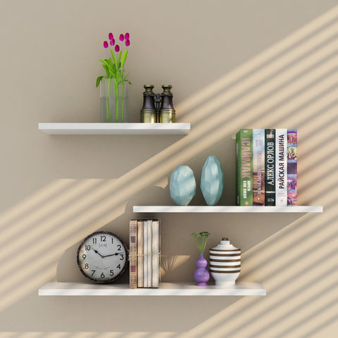 3 in 1 Floating Wall Shelves Rack