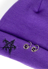 Pentagram Beanie Purple