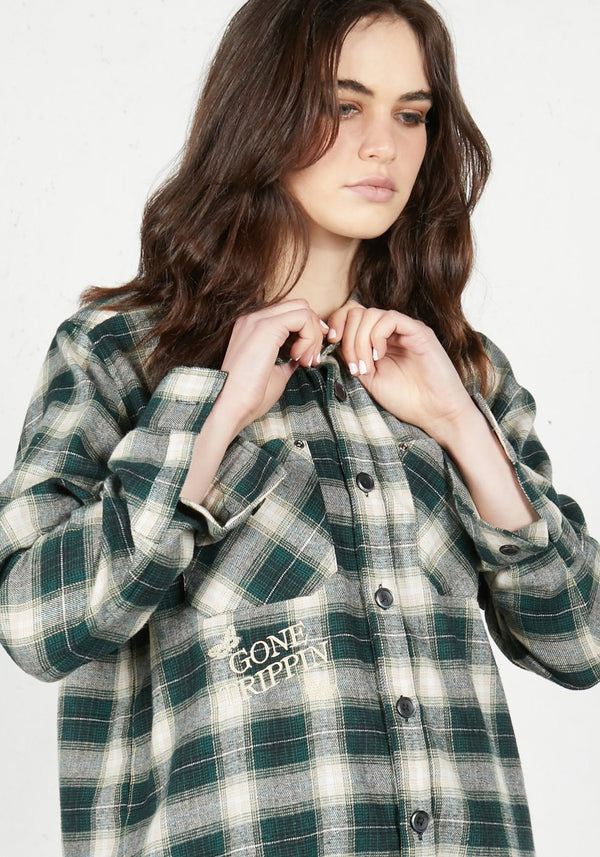 Gone Trippin' Plaid Shirt