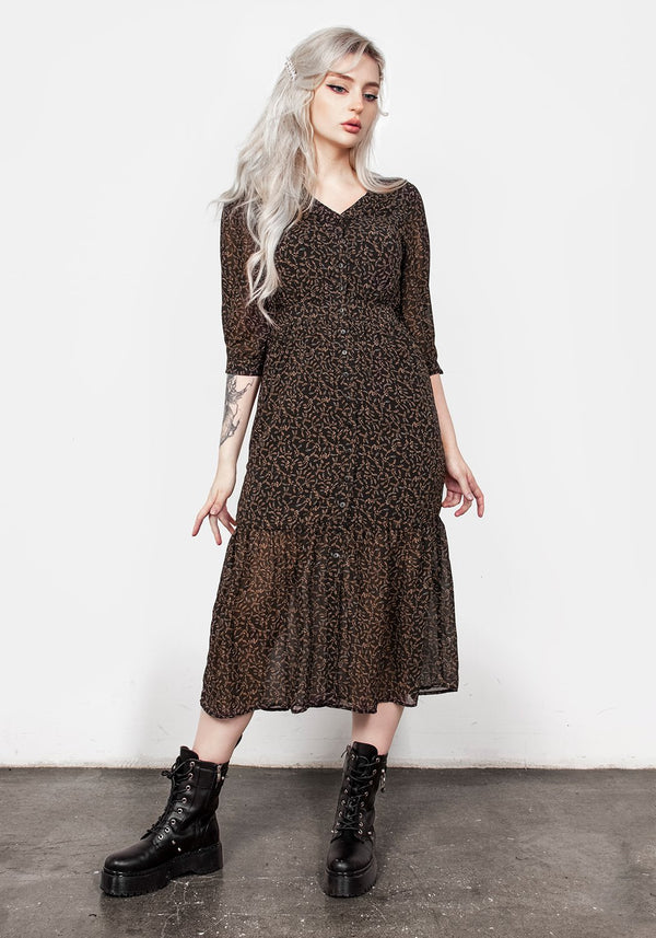 Delphinium Button Up Midi Dress