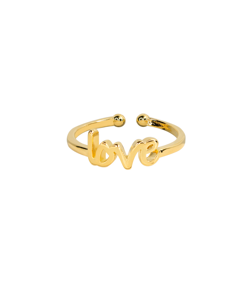 Handwritten Love Ring