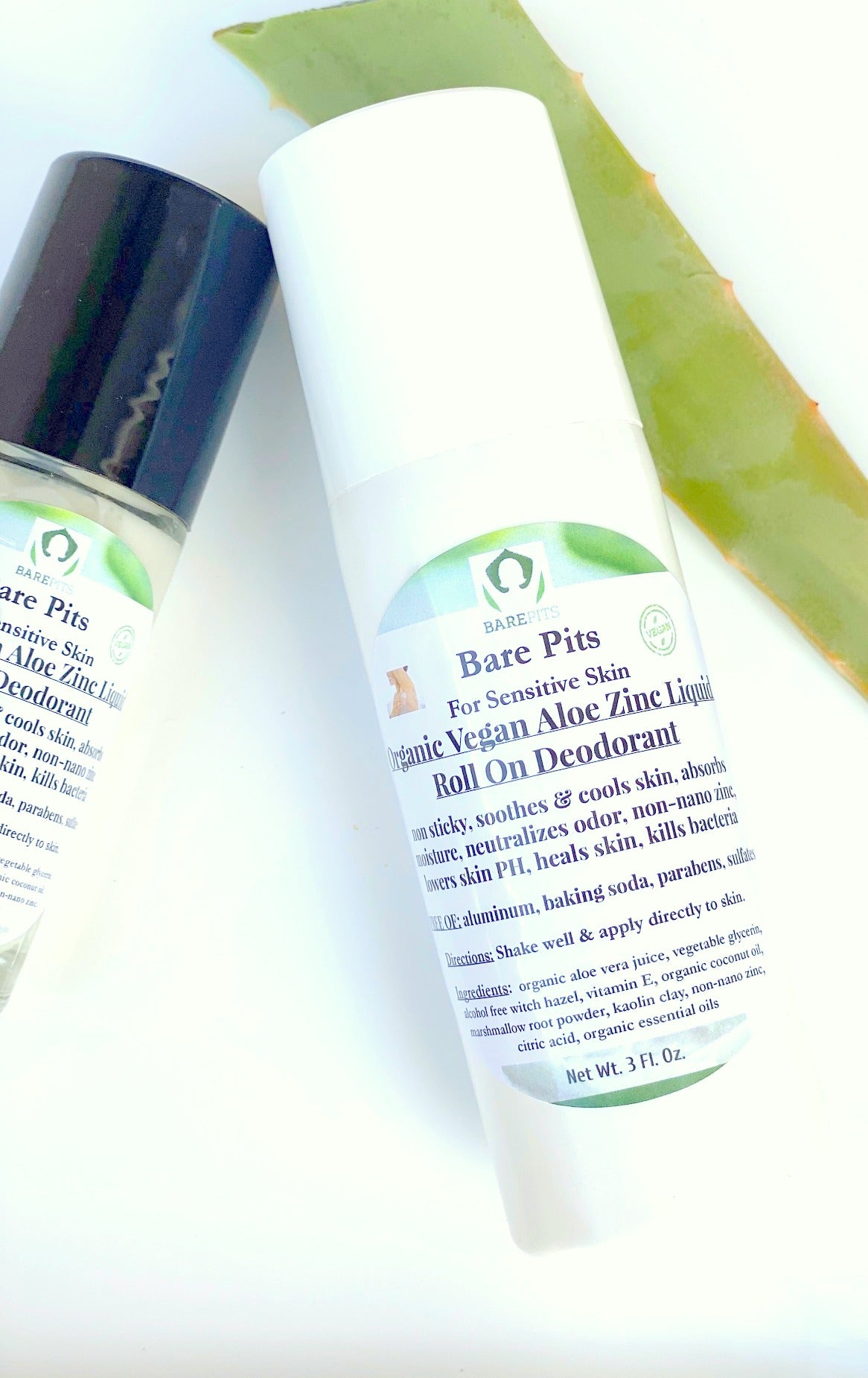 Bare Pits aloe roll on deodorant