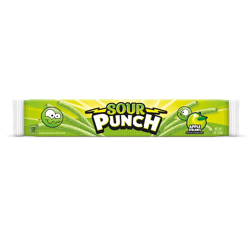 American Licorice Sour Punch Apple Straws: 2oz 24ct