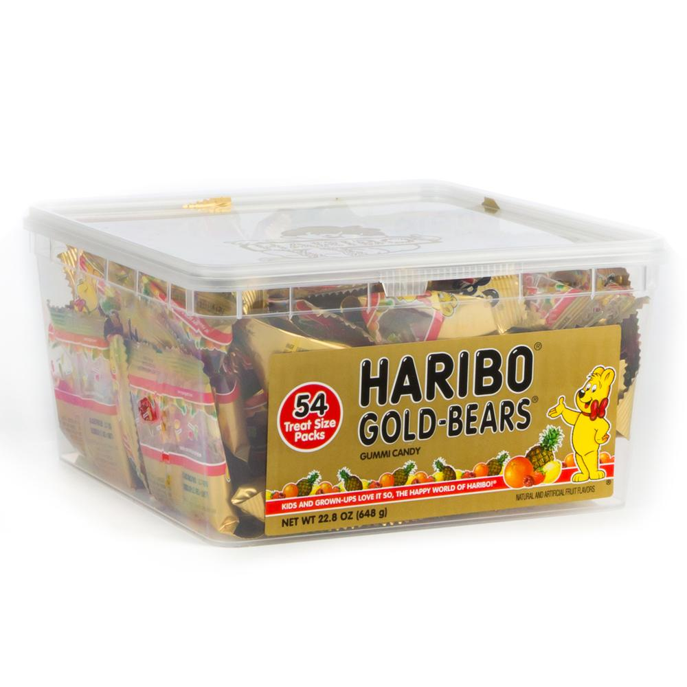 Haribo Goldbears Mini Packs Tub: 22.8oz 54ct