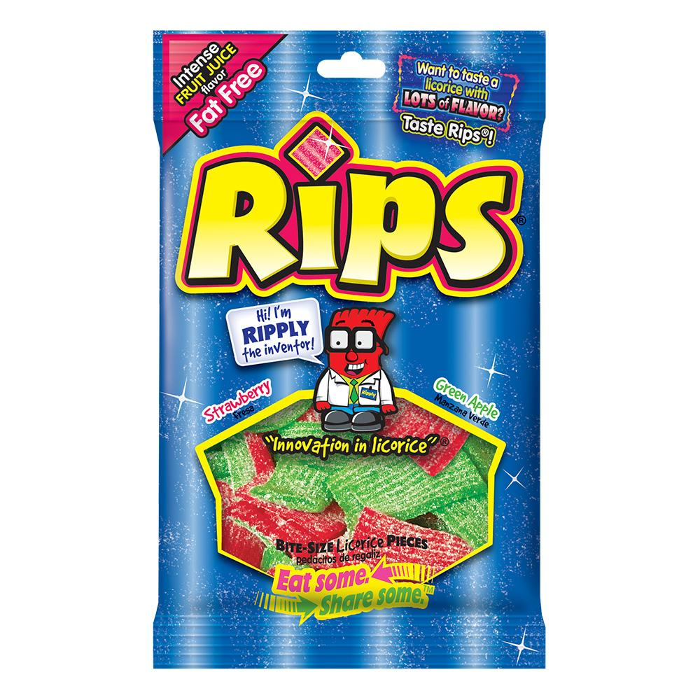 Foreign Rips Strawberry/Apple Peg Bag: 4oz 12ct