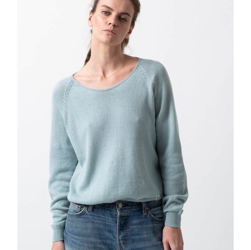 Women's Rundhals Pullover - Light Aqua