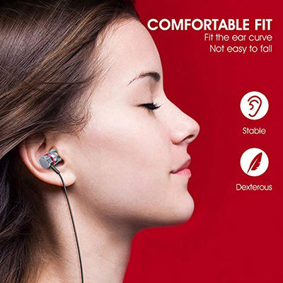 HIFI WALKER in Ear Headphones Wired with Microphone, Volume Control Compatible with iPhone, Android, iPod and All 3.5mm Jack Devices
