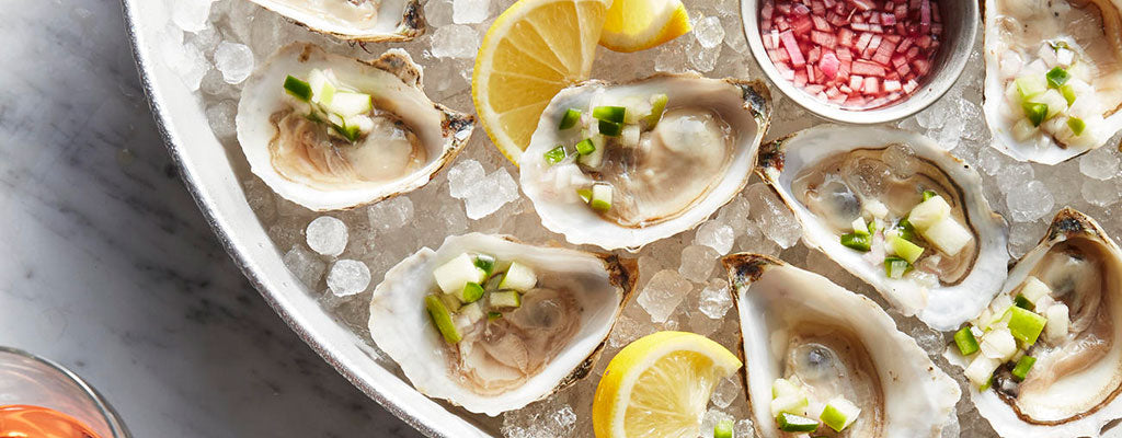 Oysters with Apple & Ginger Relish