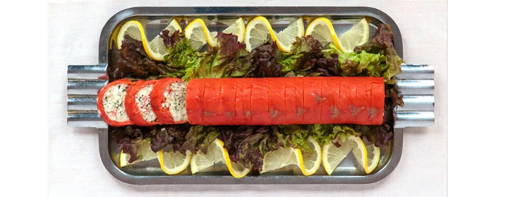 Smoked Salmon and Crab Roulade