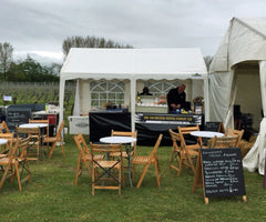 Colchester Oyster Fishery Stand at the Mersea Island Food and Drink Festival