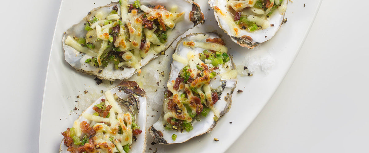 Valentine's Day Oysters Au Gratin