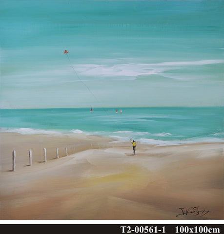 hand painted beach oil on canvas painting melbourne