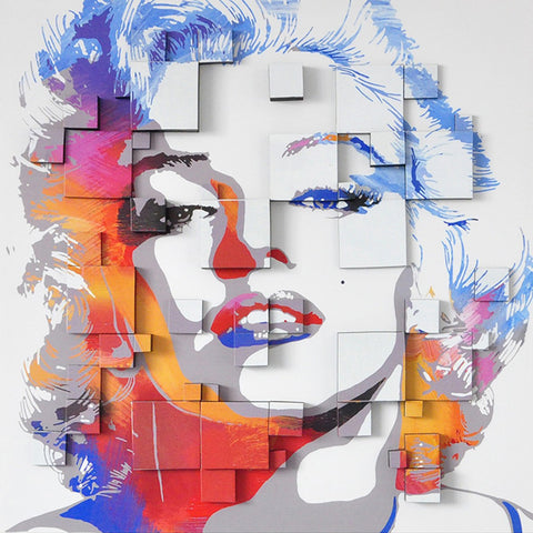 hand painted marilyn oil on canvas 3D painting melbourne