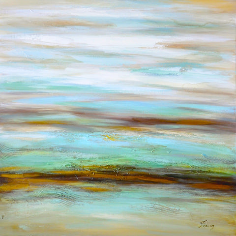 hand painted abstract oil on canvas painting melbourne