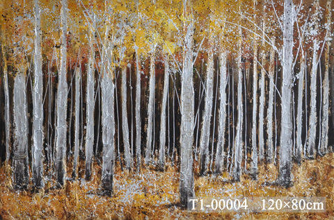 Silver Forest Painting