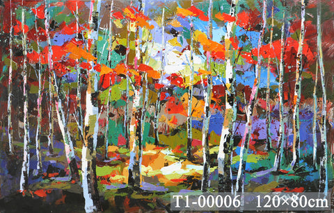 Forest Lights Painting