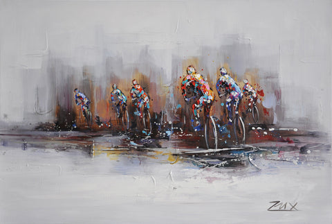 The Cyclists Painting